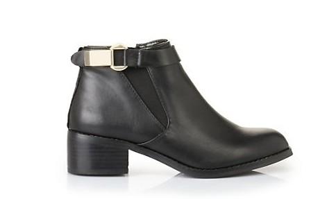 Buffalo Shopping Queen halbhohe Stiefeletten schwarz
