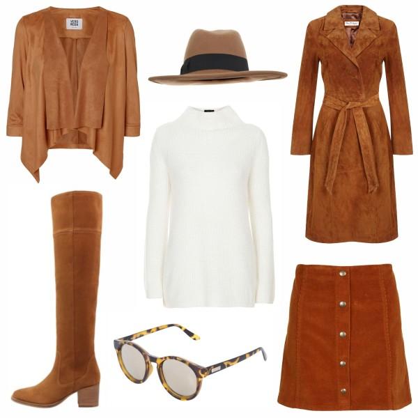 Collage Fashion Terracotta Trendfarbe im Herbst