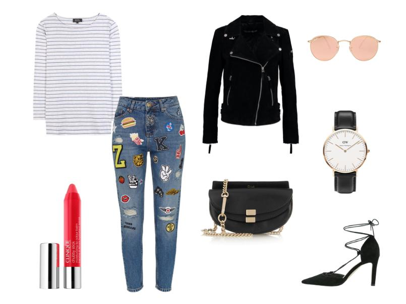 Patch Jeans Outfit