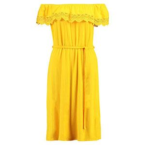 Anna Field Jerseykleid Gelb