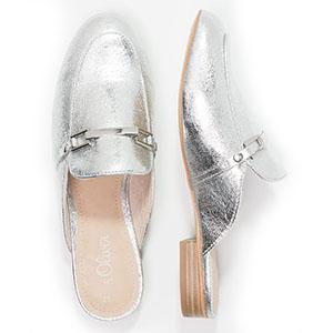 S.Oliver Pantolette Silver Mules