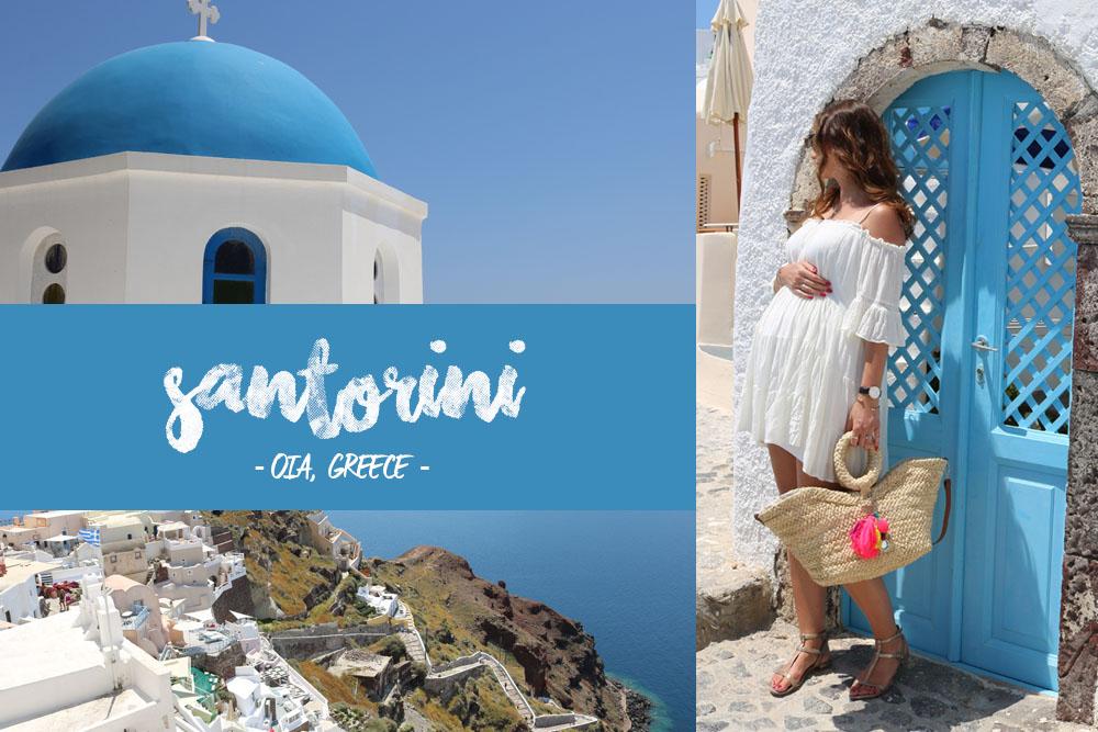 Santorini Schwangerschaftsoutfit Collage