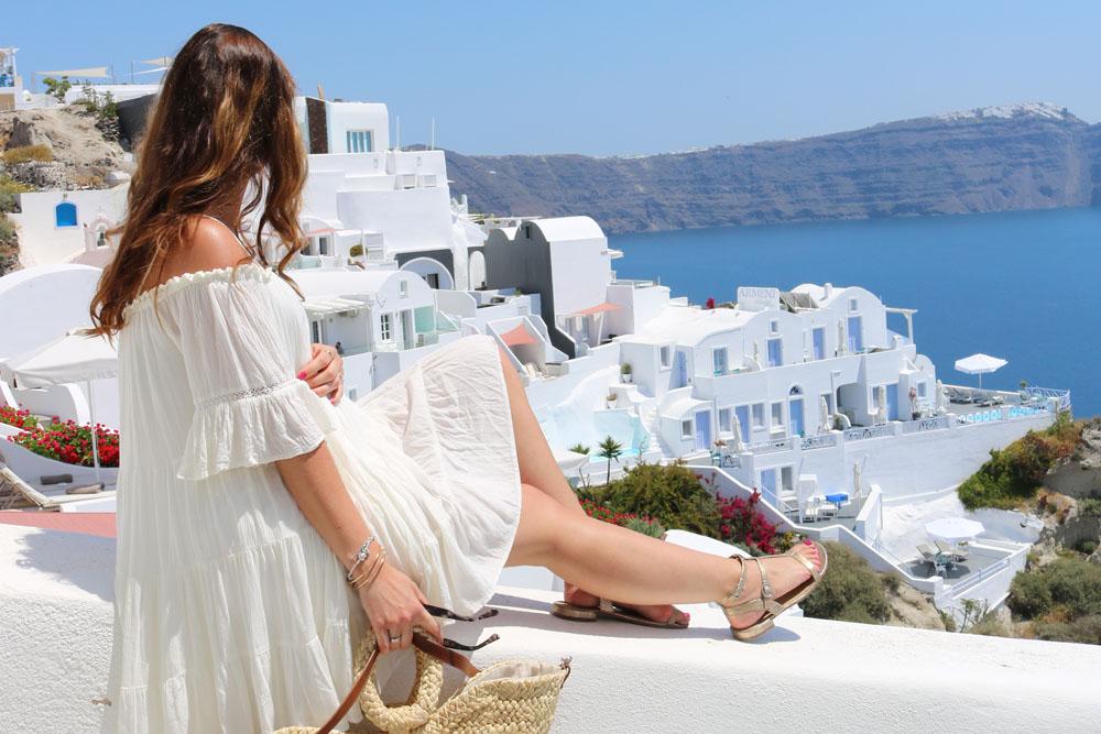 Santorini vor einem Jahr – Oia und ein Schwangerschaftsoutfit