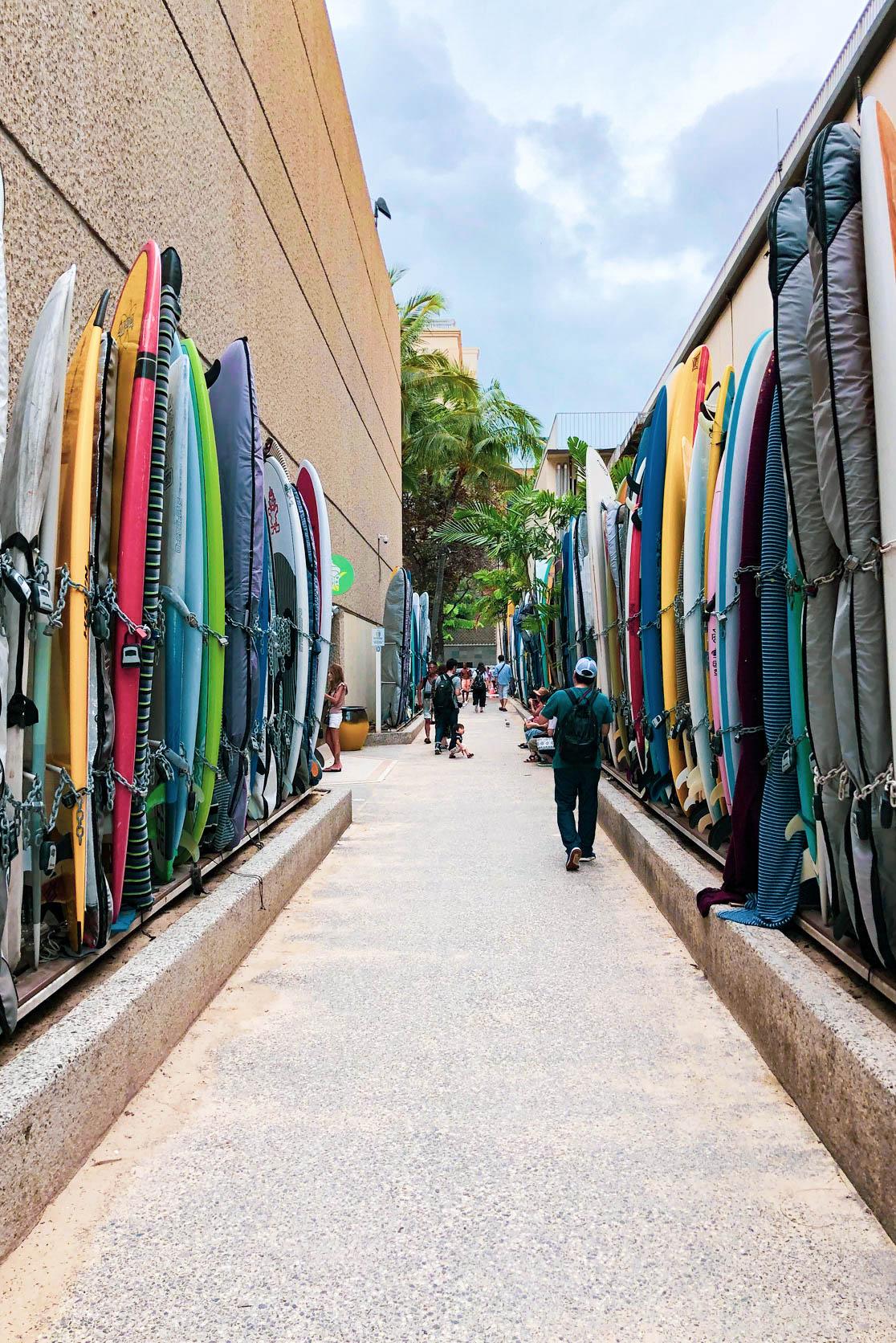 Surfbretter Waikiki Beach