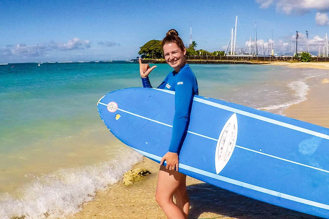 Surf Lesson Oahu Polu Lani