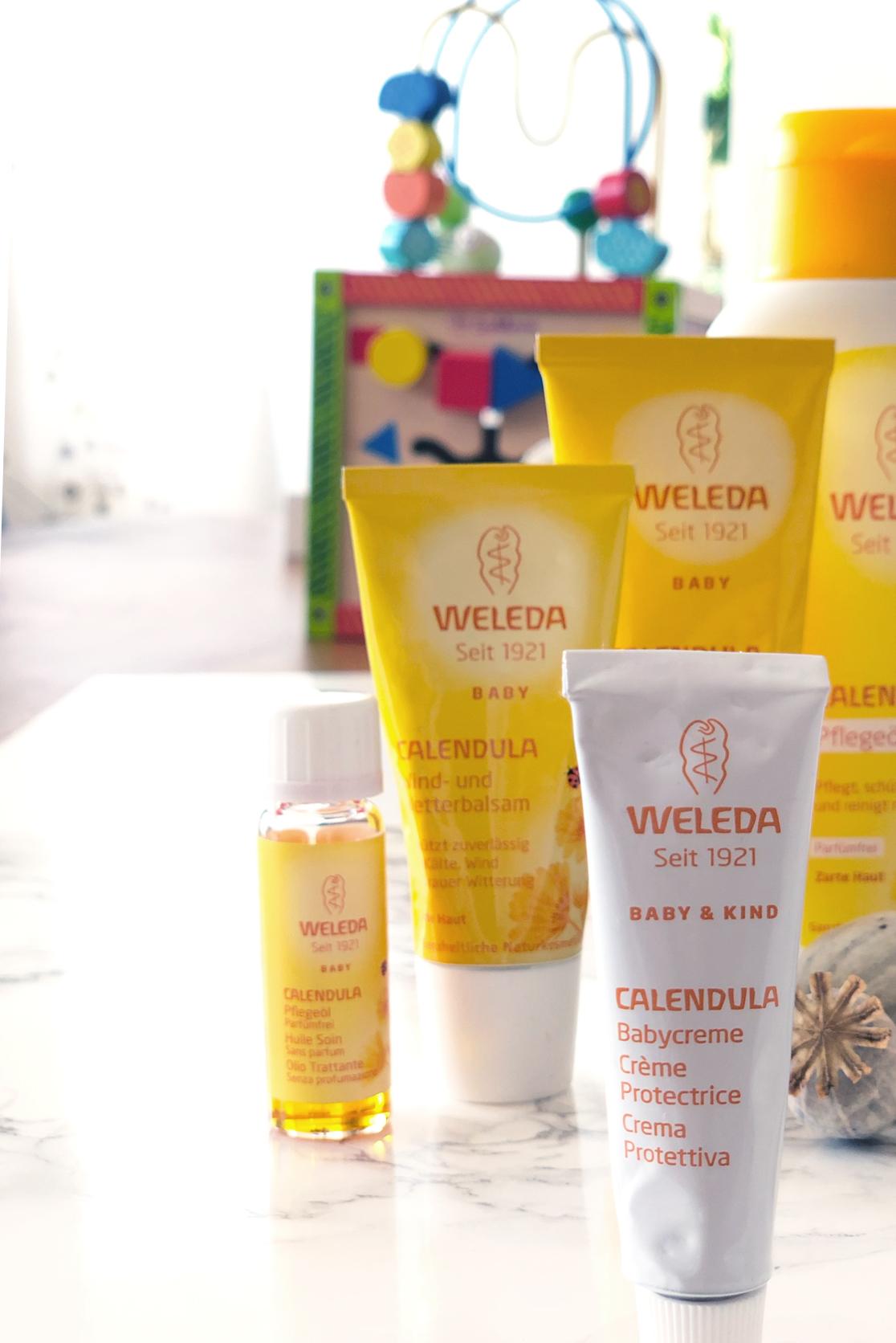 Vegane Kosmetik - Weleda Calendula Pflegeprodukte für Mama und Baby